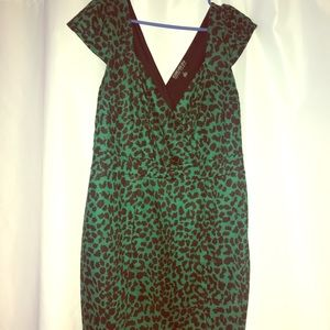 Forever 21 plus green cheetah bodycon dress